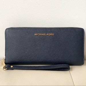 Michael Kors Travel Continental Leather Wallet